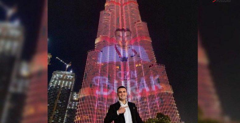 CZN Burak, Burj Khalifa'da Devasa Reklam Yaptı