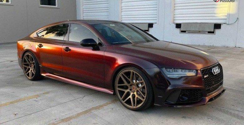 Siyahtan Kırmızıya Renk Geçişli Audi RS7 Göz Kamaştırdı
