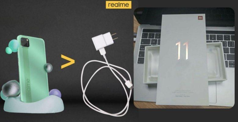 Xiaomi akabinde Realme'den 'adaptör' göndermesi!